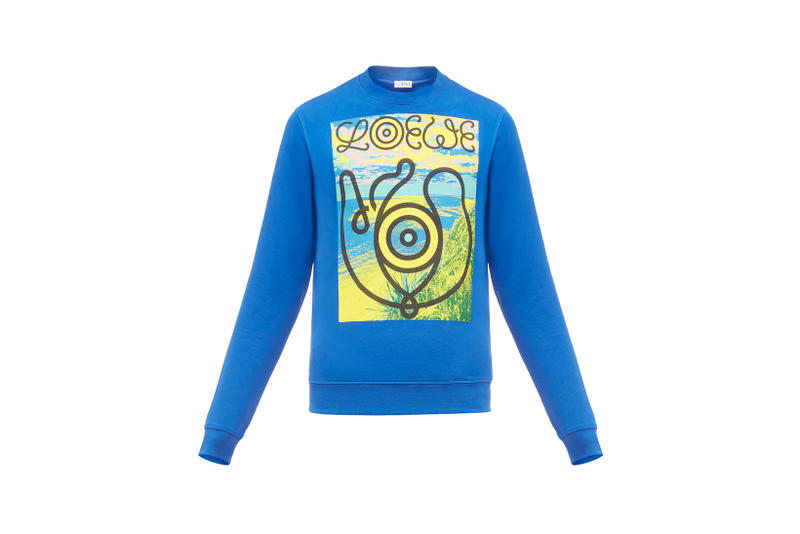 LOEWE Eye Nature Collection Logo Long Sleeve Teal
