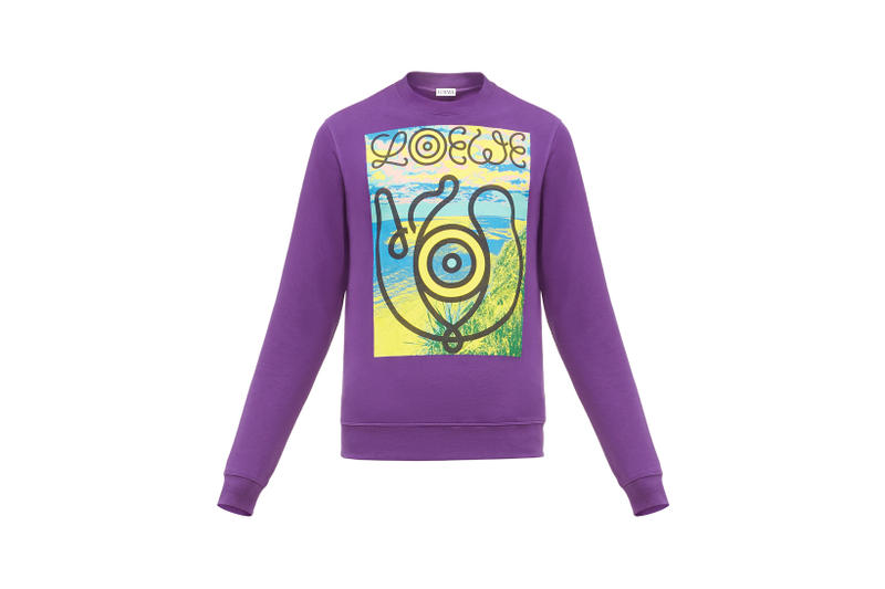 LOEWE Eye Nature Collection Logo Long Sleeve Purple