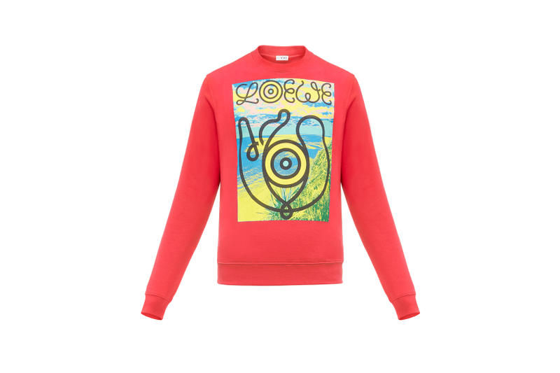 LOEWE Eye Nature Collection Logo Long Sleeve Red