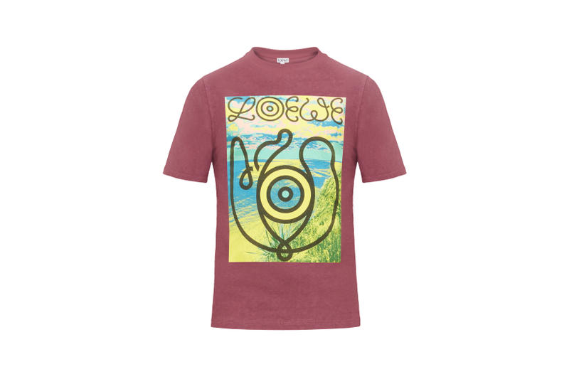 LOEWE Eye Nature Collection Logo T-shirt Maroon