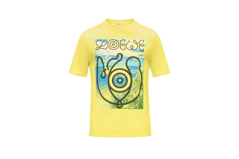 LOEWE Eye Nature Collection Logo T-shirt Yellow