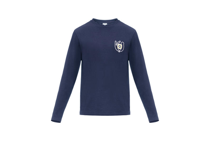 LOEWE Eye Nature Collection Long Sleeve Navy