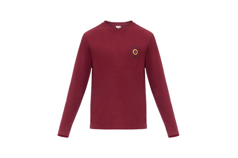 LOEWE Eye Nature Collection Long Sleeve Maroon