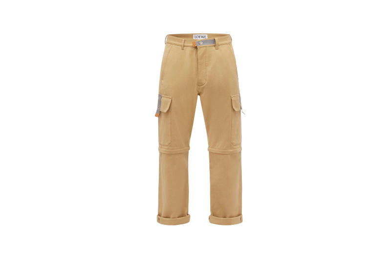 LOEWE Eye Nature Collection Khaki Pants Tan
