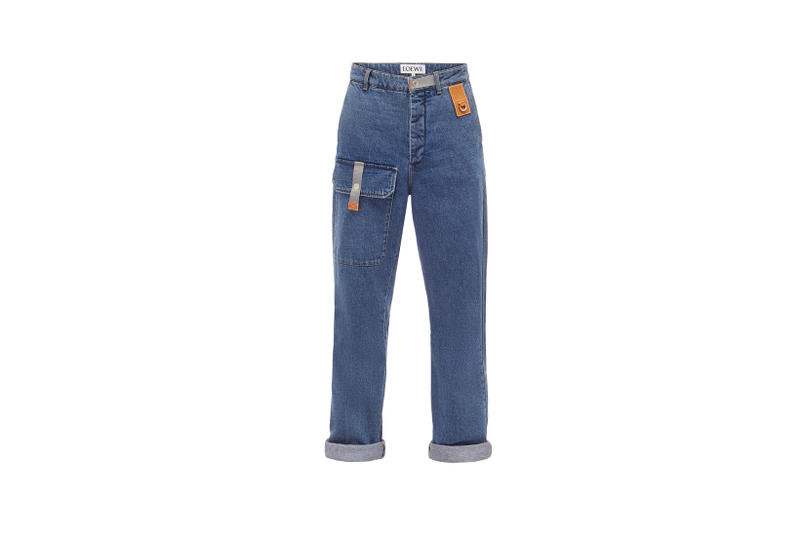 LOEWE Eye Nature Collection Cuffed Jeans Blue