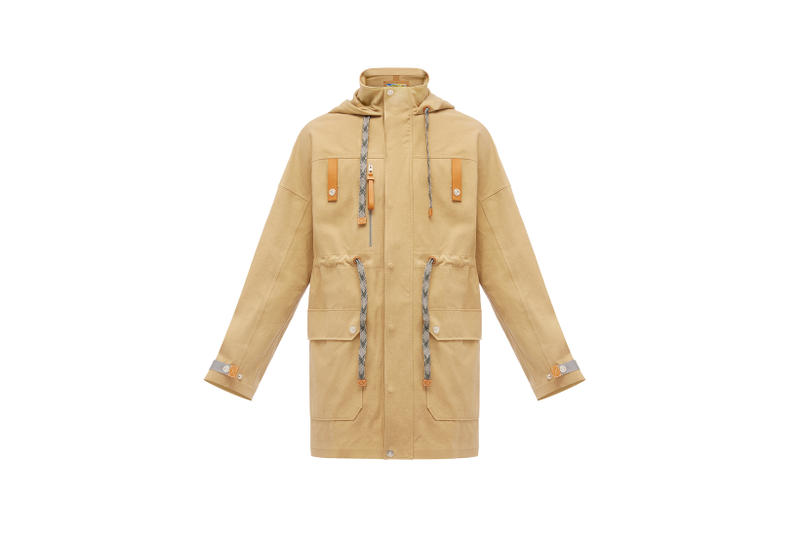 LOEWE Eye Nature Collection Trench Coat Tan