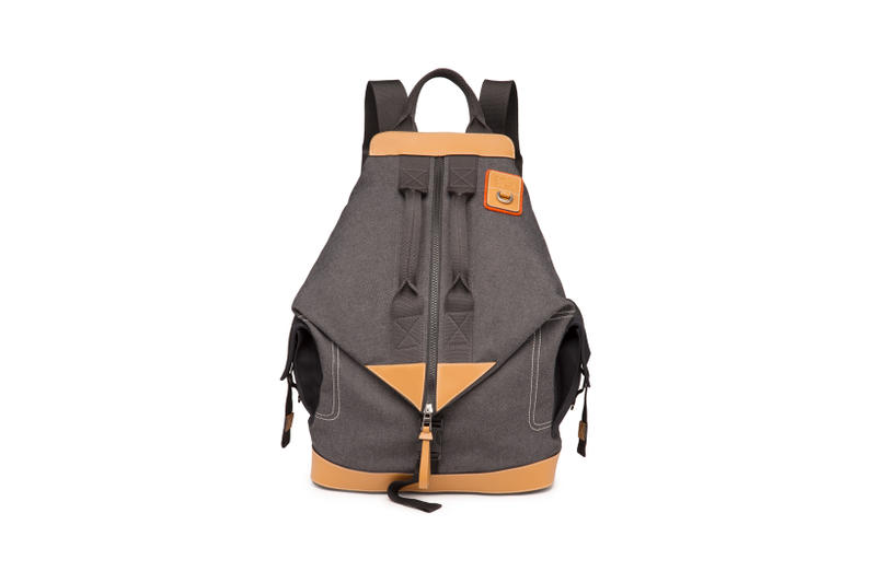 LOEWE Eye Nature Collection Zip Up Backpack Grey