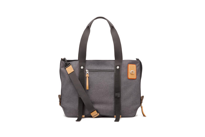 LOEWE Eye Nature Collection Tote Grey
