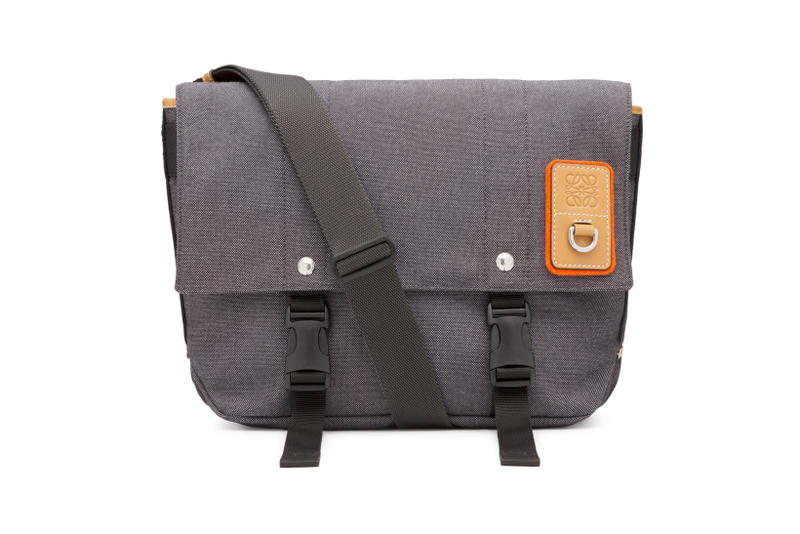 LOEWE Eye Nature Collection Messenger Bag Grey