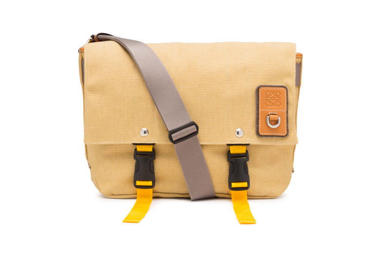 LOEWE Eye Nature Collection Messenger Bag Tan
