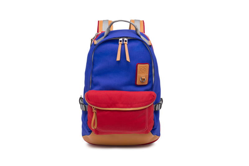 LOEWE Eye Nature Collection Backpack Blue Red