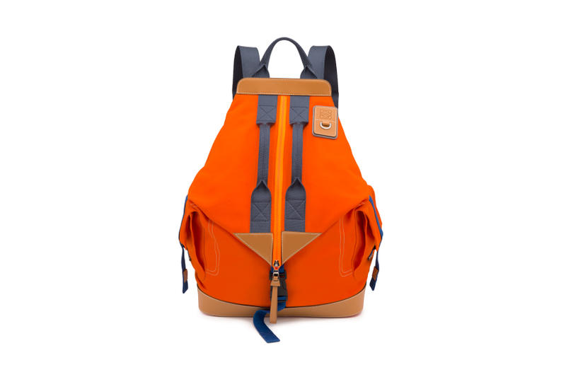 LOEWE Eye Nature Collection Zip Up Backpack Orange