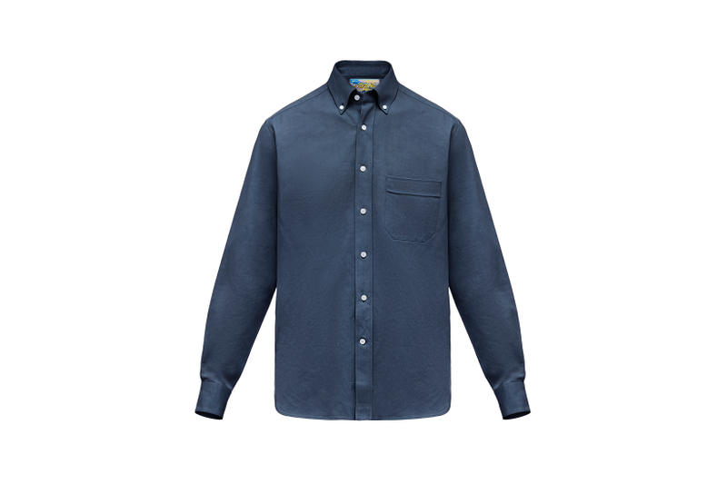 LOEWE Eye Nature Collection Collared Shirt Navy
