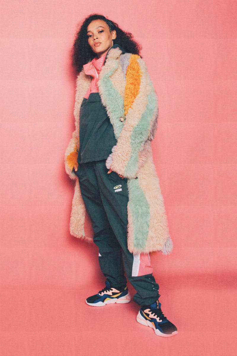 Lola Plaku x PUMA Nova GRL PWR Campaign Black Surf The Web Marz Lovejoy Jacket Pink Orange Overalls Green