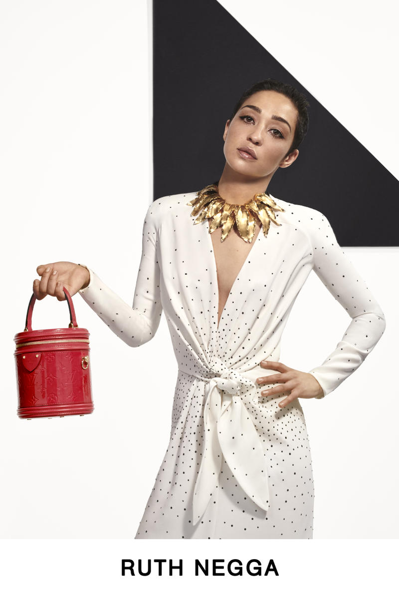 Louis Vuitton Pre-Fall 2019 Lookbook Ruth Negga Dress White
