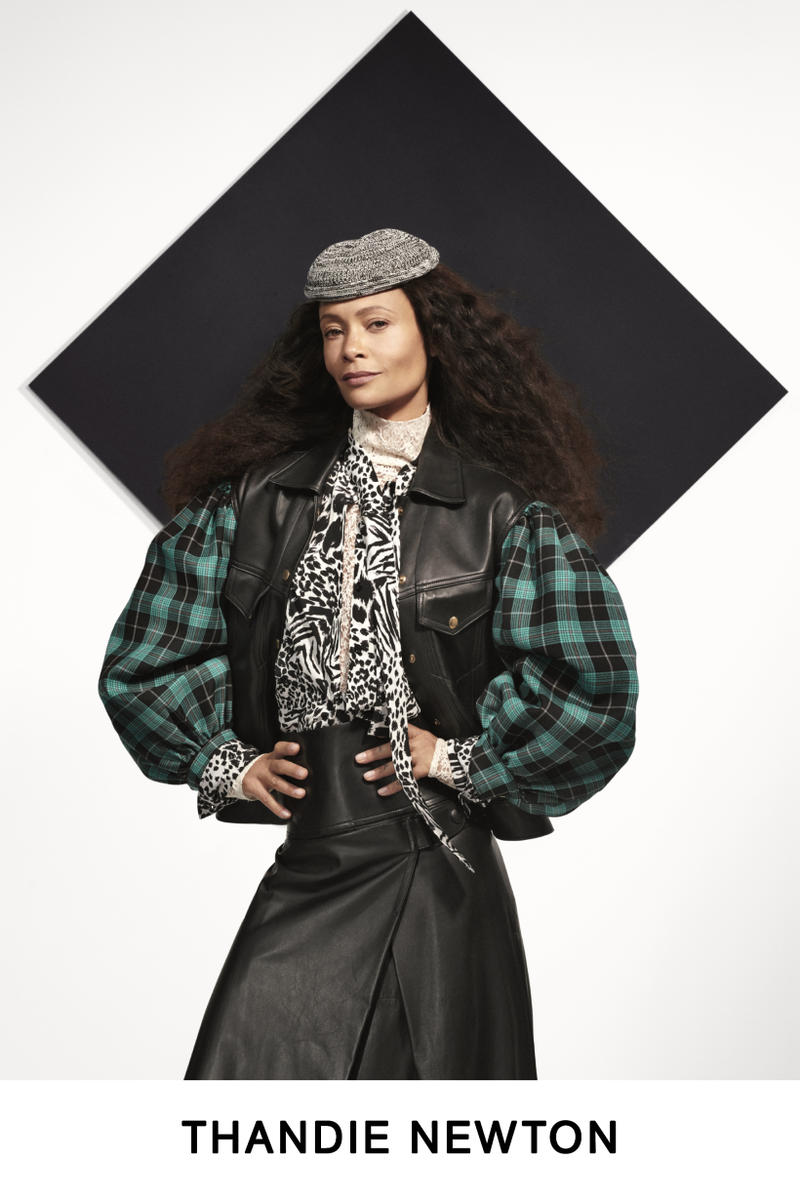 Louis Vuitton Pre-Fall 2019 Lookbook Thandie Newton Jacket Black Green Hat Grey