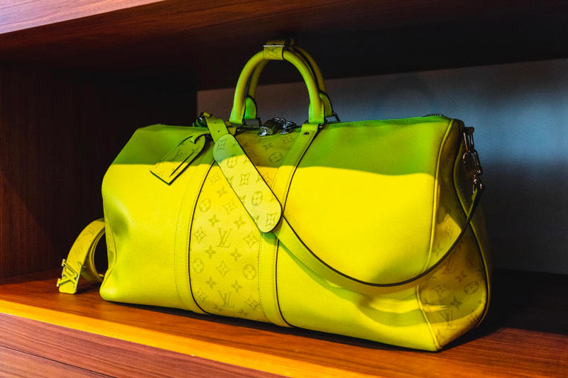 louis vuitton virgil abloh ss19 spring summer 2019 menswear neon yellow bag monogram