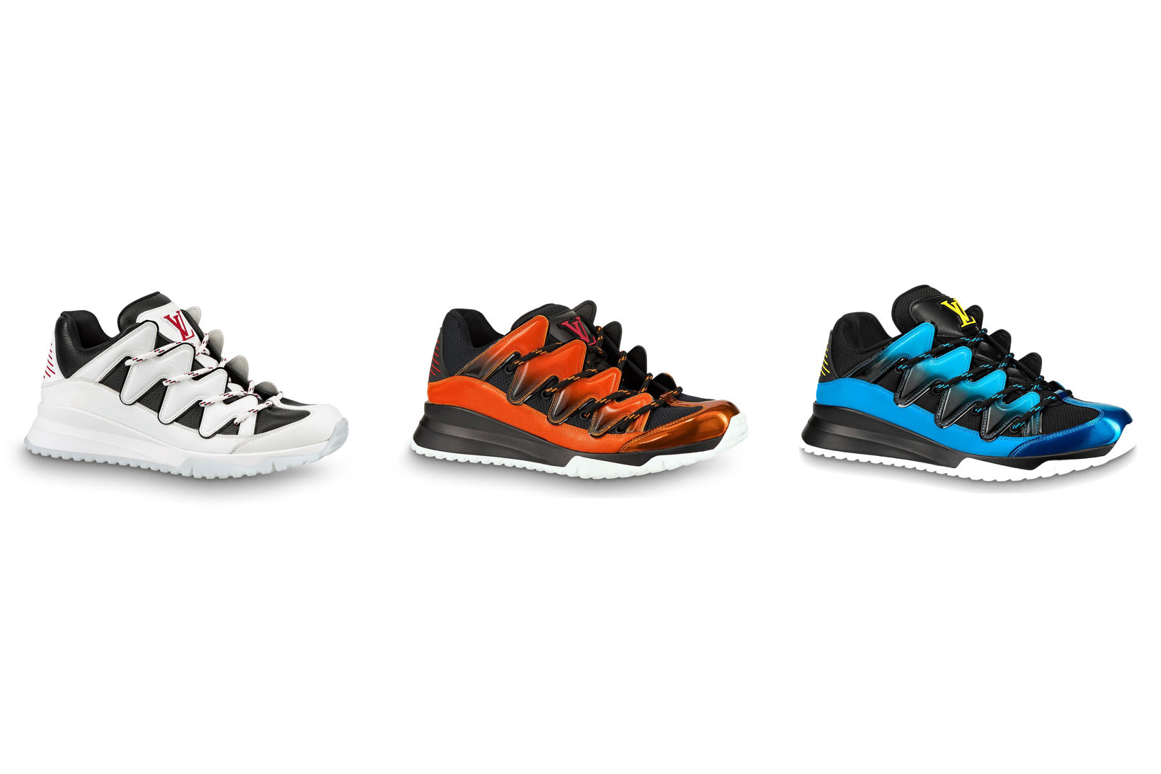 Zig Zag Sneaker in White \u0026 Blue
