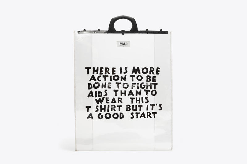 MM6 Maison Margiela Charity Capsule Collection Tote Bag Slogan HIV Aids Project AIDES Organization