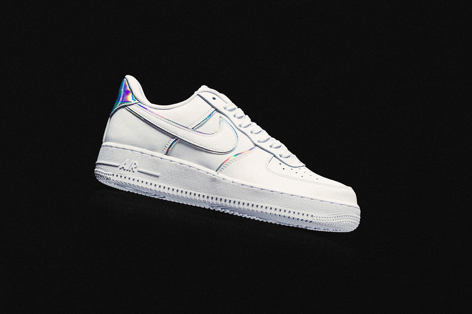 air force 1 iridescent leather sneakers