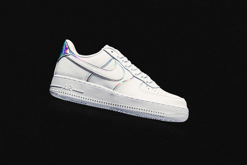wholesale dealer 640a8 deb46 nike air force 1 07 lv8 white iridescent details leather