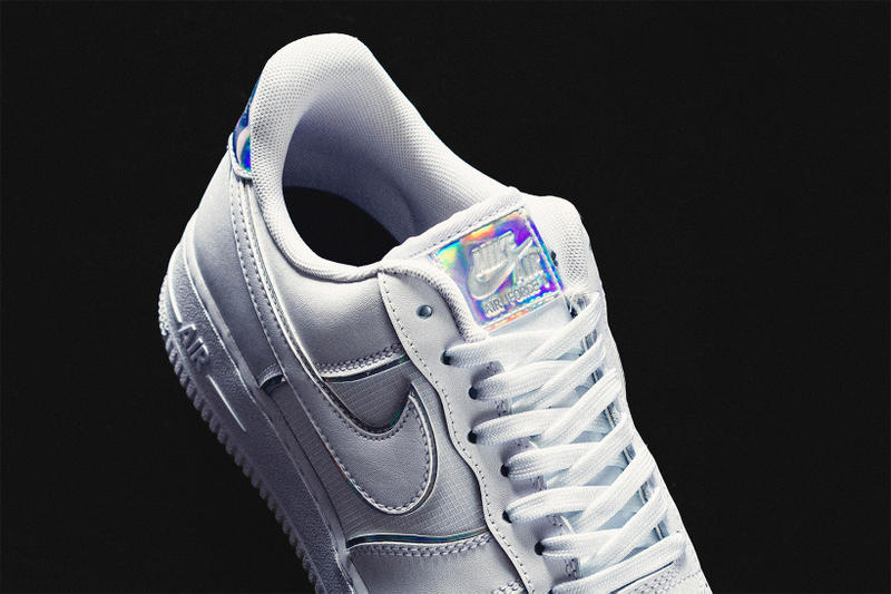 nike air force 1 07 lv8 white iridescent details leather