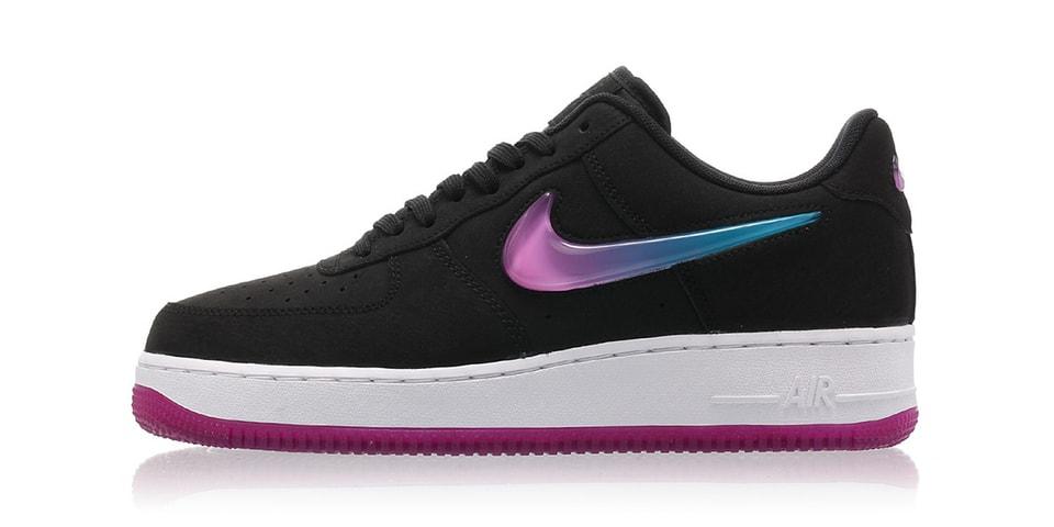get cheap f5ab0 8ff66 Nike Air Force 1 Pink   Blue Ombré Swoosh Logo   HYPEBAE