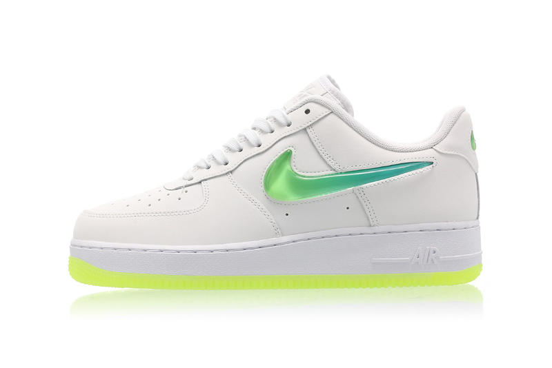 online store fca37 1d62b Channel the Neon Trend in Nikes Air Force 1 Ombré