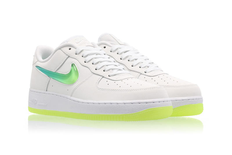 separation shoes d4063 8cf71 Nike Air Force 1 Hyper Jade Ombré Swoosh Volt