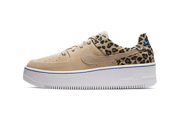 best service f2e0d 6319b Nike's Air Force 1 Sage Low Returns With Leopard Print Detailing