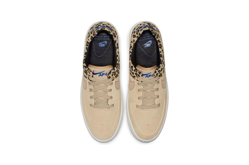 buy online 30ebd 5cc93 Nike Air Force 1 Sage Low Premium Desert Ore Electric Blue Leopard Print