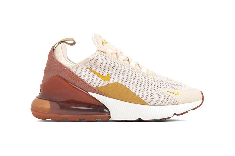 Nike Air Max 270 Light Cream Metallic Gold