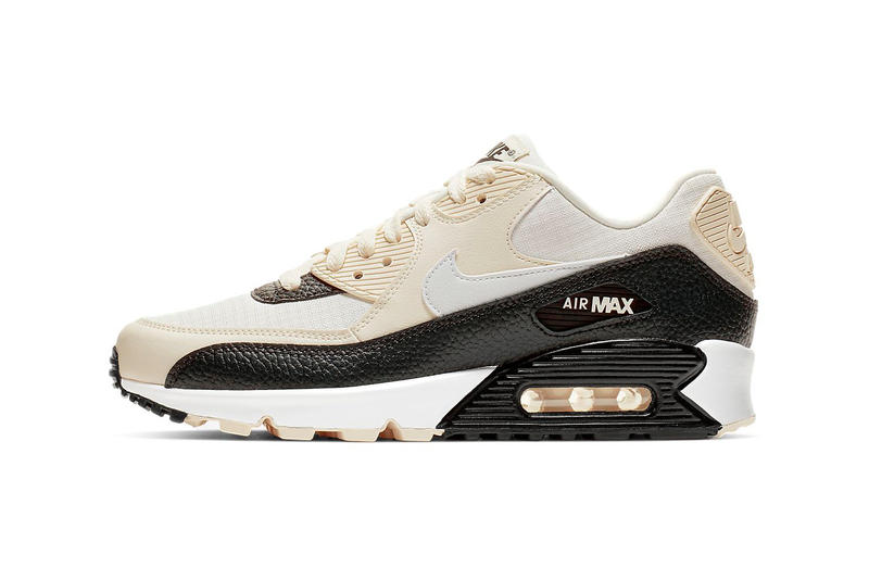 best service 06594 3c2cb Nike Air Max 90 Ivory Black White Oil Grey