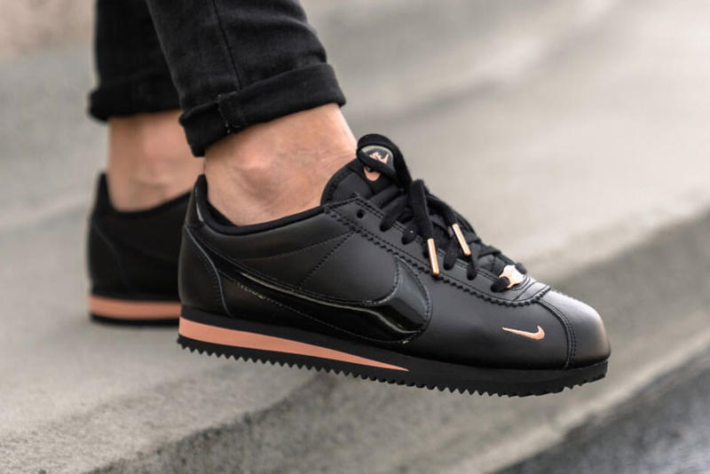 best sneakers 49954 90d6e Shop Nike's Classic Cortez in Black & Rose Gold | HYPEBAE