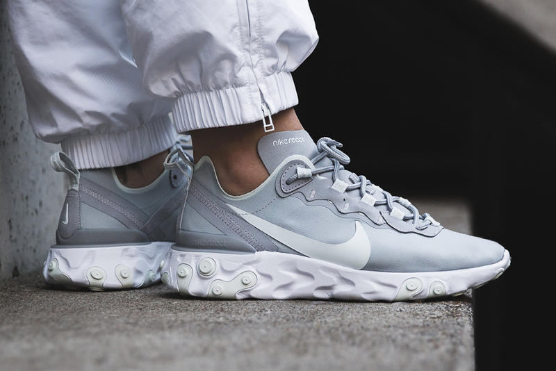 nike react element 55 womens exclusive wolf grey ghost aqua