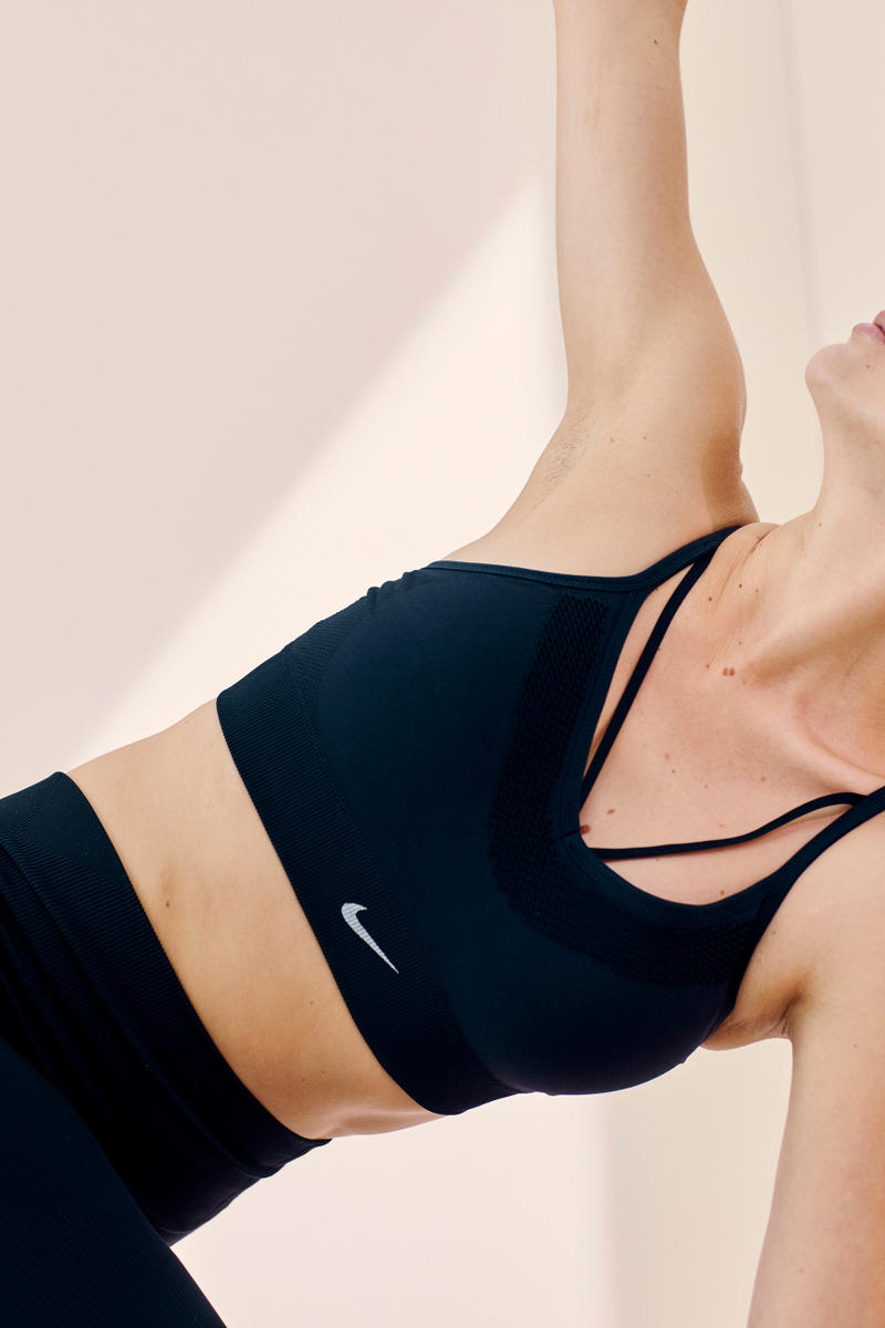 Nike Yoga Collection Pro Hypercool Rib Tight Sports Bra Black
