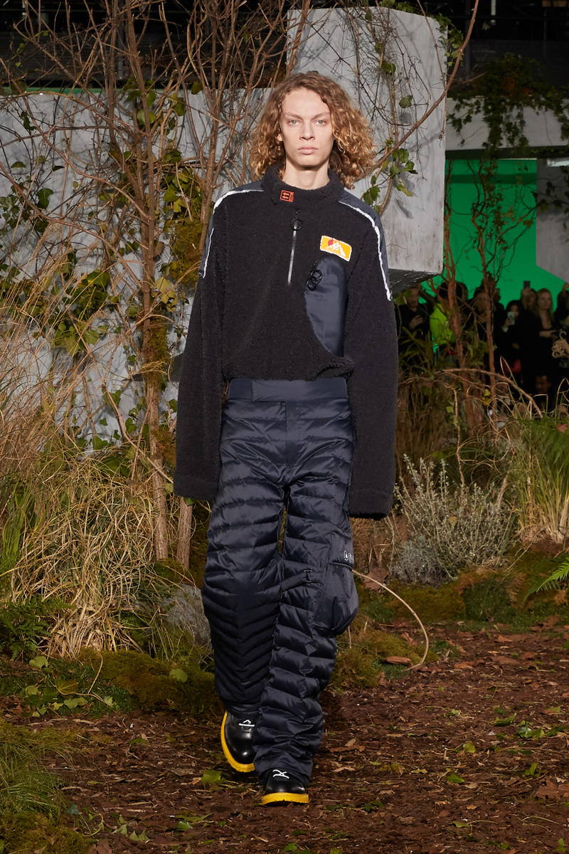 Off-White Virgil Abloh Fall Winter 2019 Paris Fashion Week Show Collection Backstage Sweater Pants Black