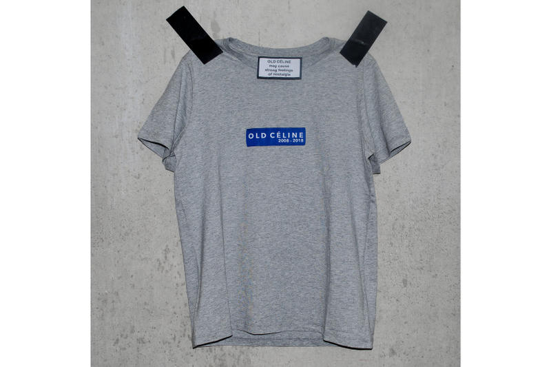 Old Céline T Shirt White Gray