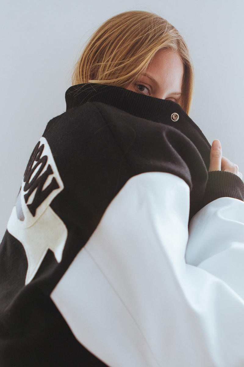 Olympia Le Tan x Richardson Varsity Jacket Black White