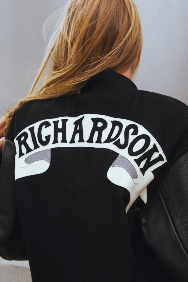 Olympia Le Tan x Richardson Varsity Jacket Black