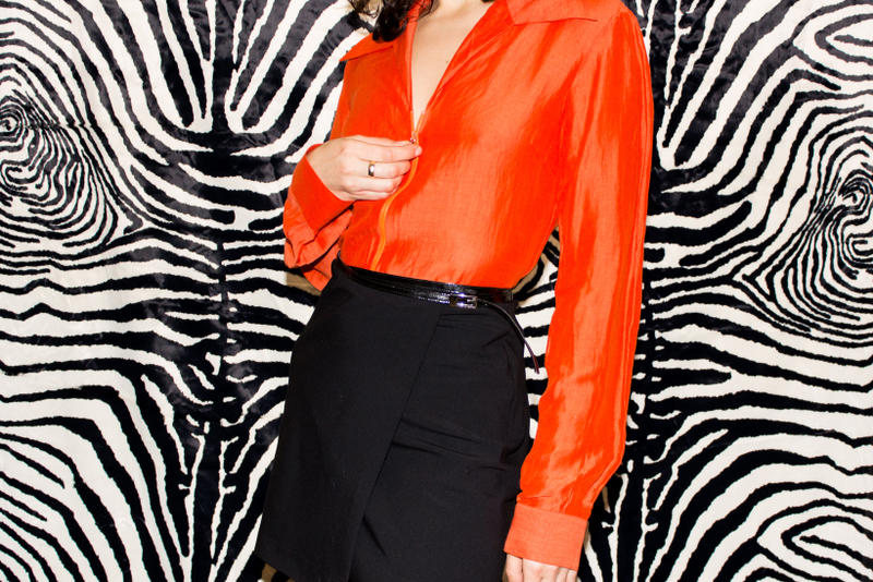 Opening Ceremony James Veloria Gucci Tom Ford Top Orange Skirt Black