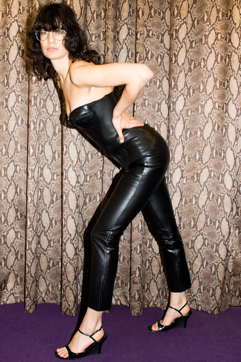 Opening Ceremony James Veloria Gucci Tom Ford Bustier Top Leather Pants Black