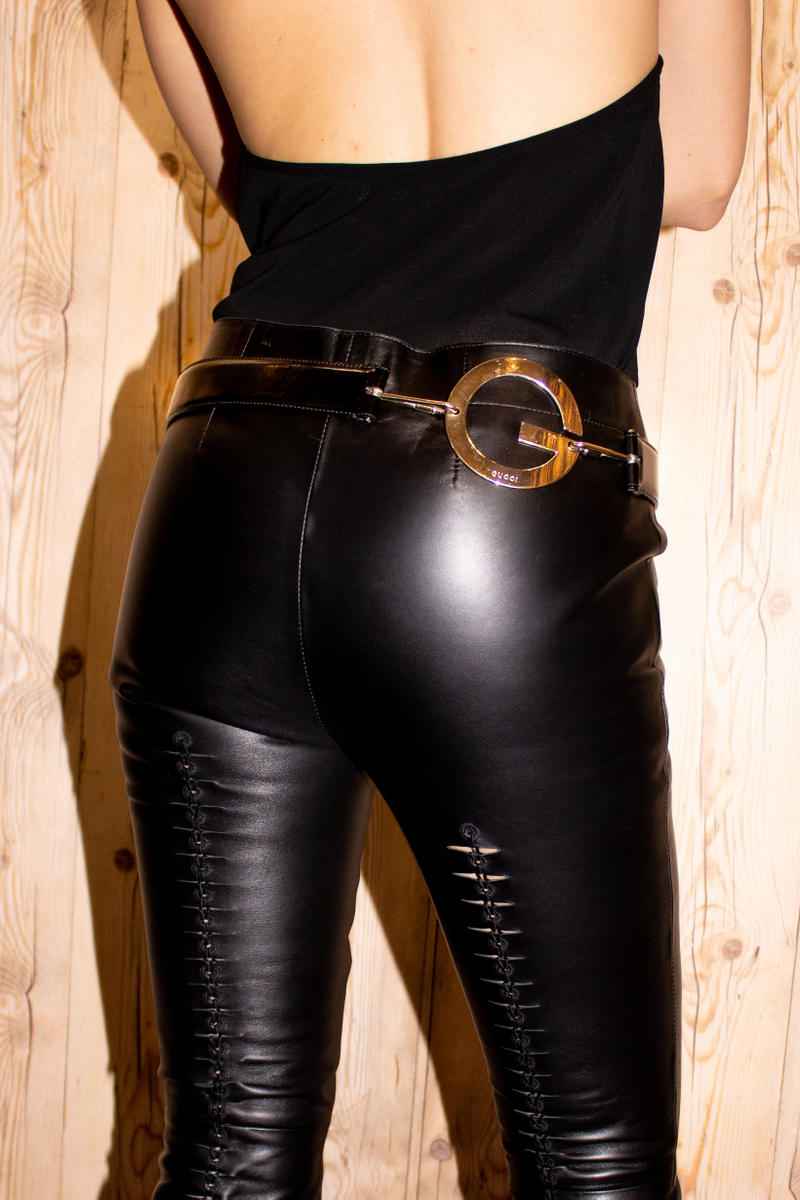 Opening Ceremony James Veloria Gucci Tom Ford Leather Pants Black