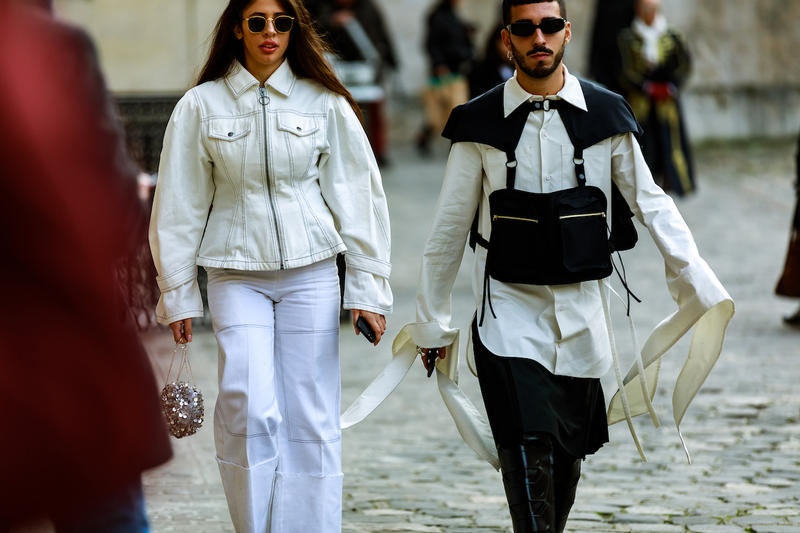 Paris Fashion Week Men's FW19 Streetstyle Snaps Off-White Chanel Heron Preston Jerry Lorenzo Maisie Wiliams Sita Abellan Aleali May