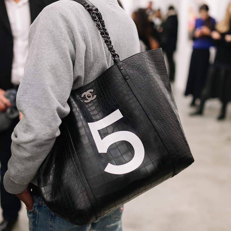 Pharrell Williams Chanel Croc Leather 5 Bag Black Paris Fashion Week Men's Collaboration