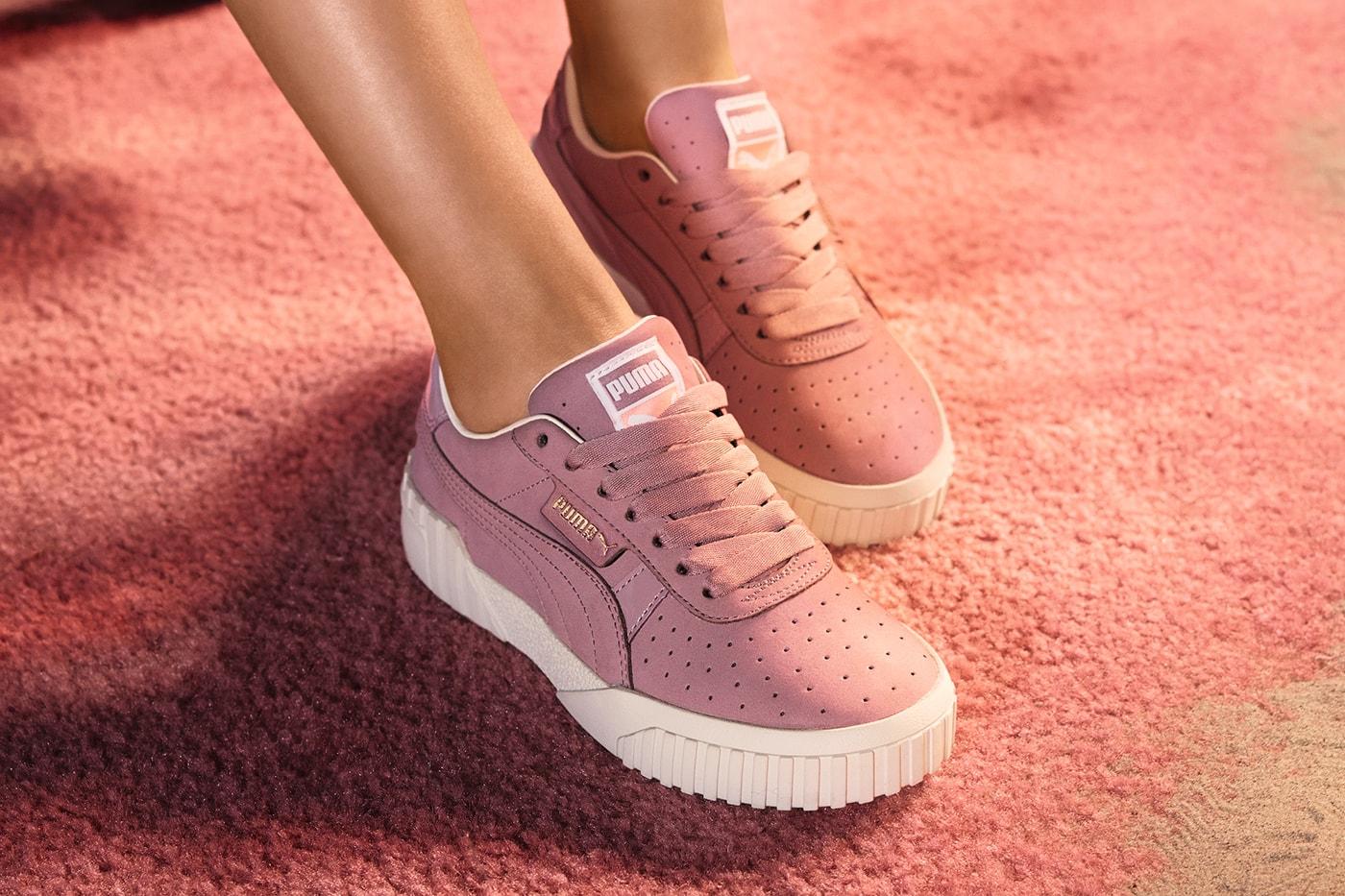 d9e12046e ... Selena Gomez PUMA Cali Elderberry Pastel Dusky Lilac Sneakers Trainers
