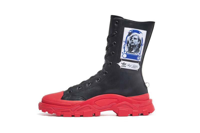 new concept 14dd7 0adc2 adidas Raf Simons RS Detroit High Boots Black Red Pink Blue