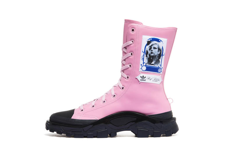 adidas Raf Simons RS Detroit High Boots Black Red Pink Blue