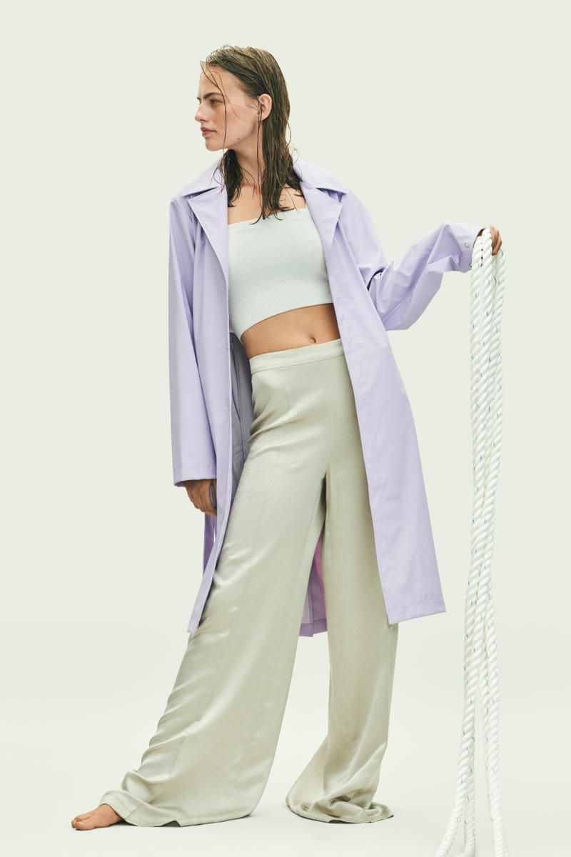 Rains Spring Summer 2019 Campaign Raincoat Lavender
