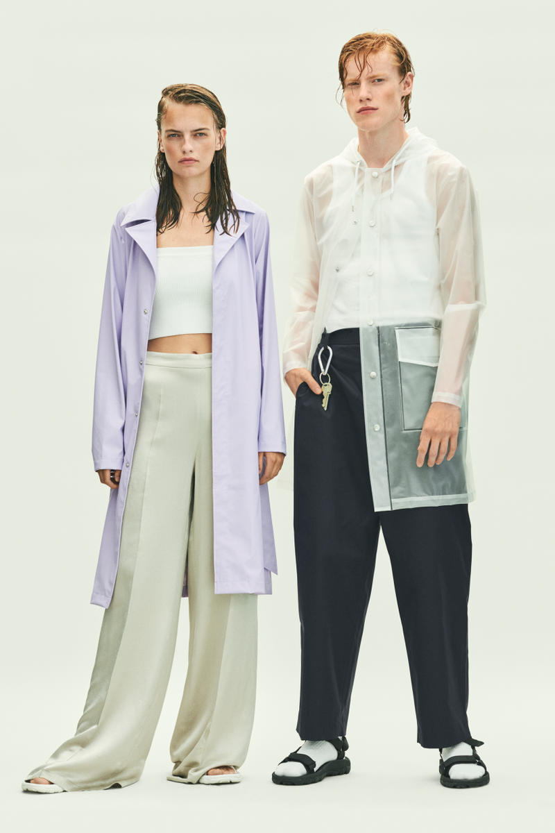 Rains Spring Summer 2019 Campaign Raincoats Lavender Clear